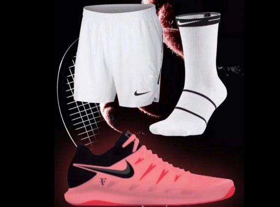 Equipamento de Roger Federer para o Australian Open 2018