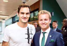 Federer e Rosberg