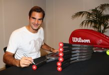 Roger Federer raquetes Wilson