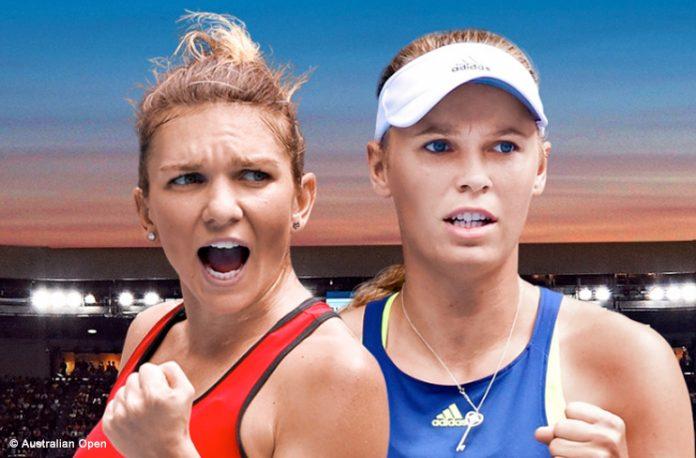 Simona Halep e Caroline Wozniacki