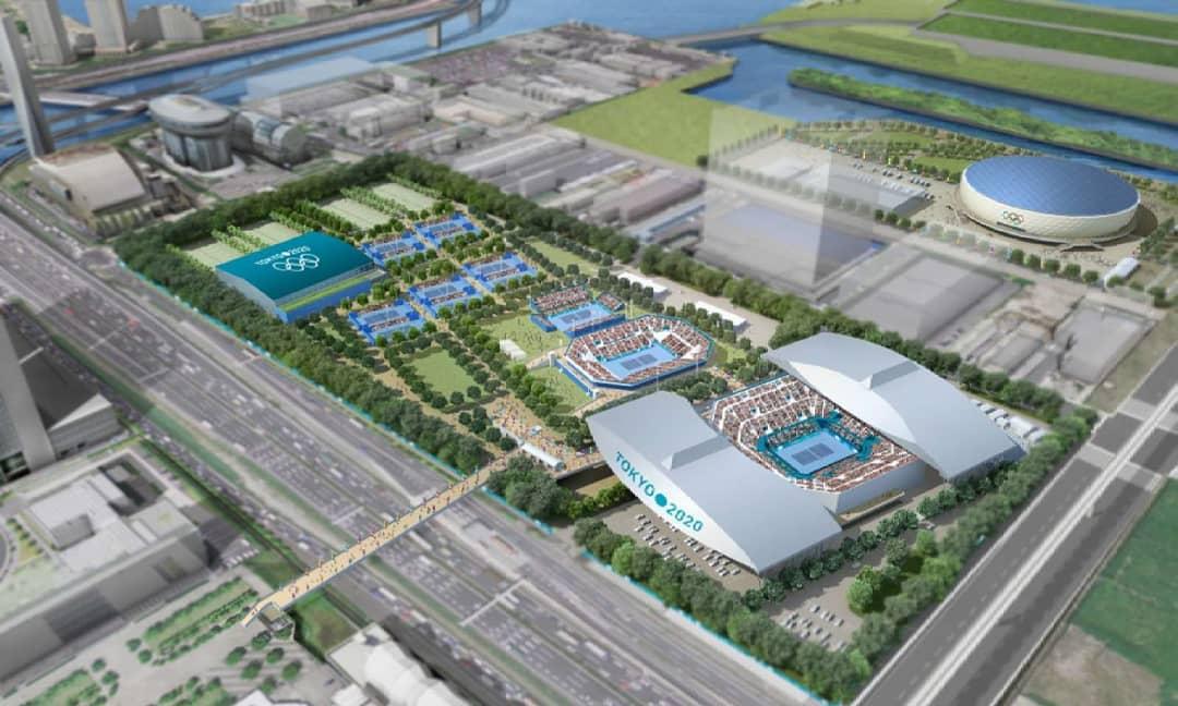 Projeto do Ariake Tennis Park para Tóquio 2020
