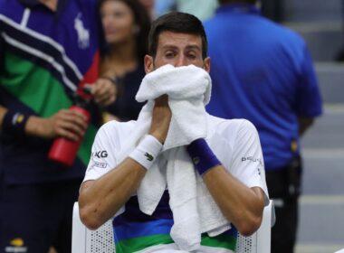 Novak Djokovic em lágrimas no US Open